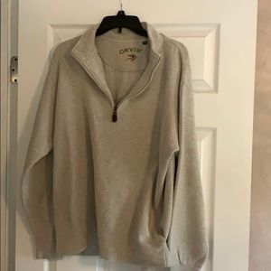 Orvis quarter zip sweatshirt